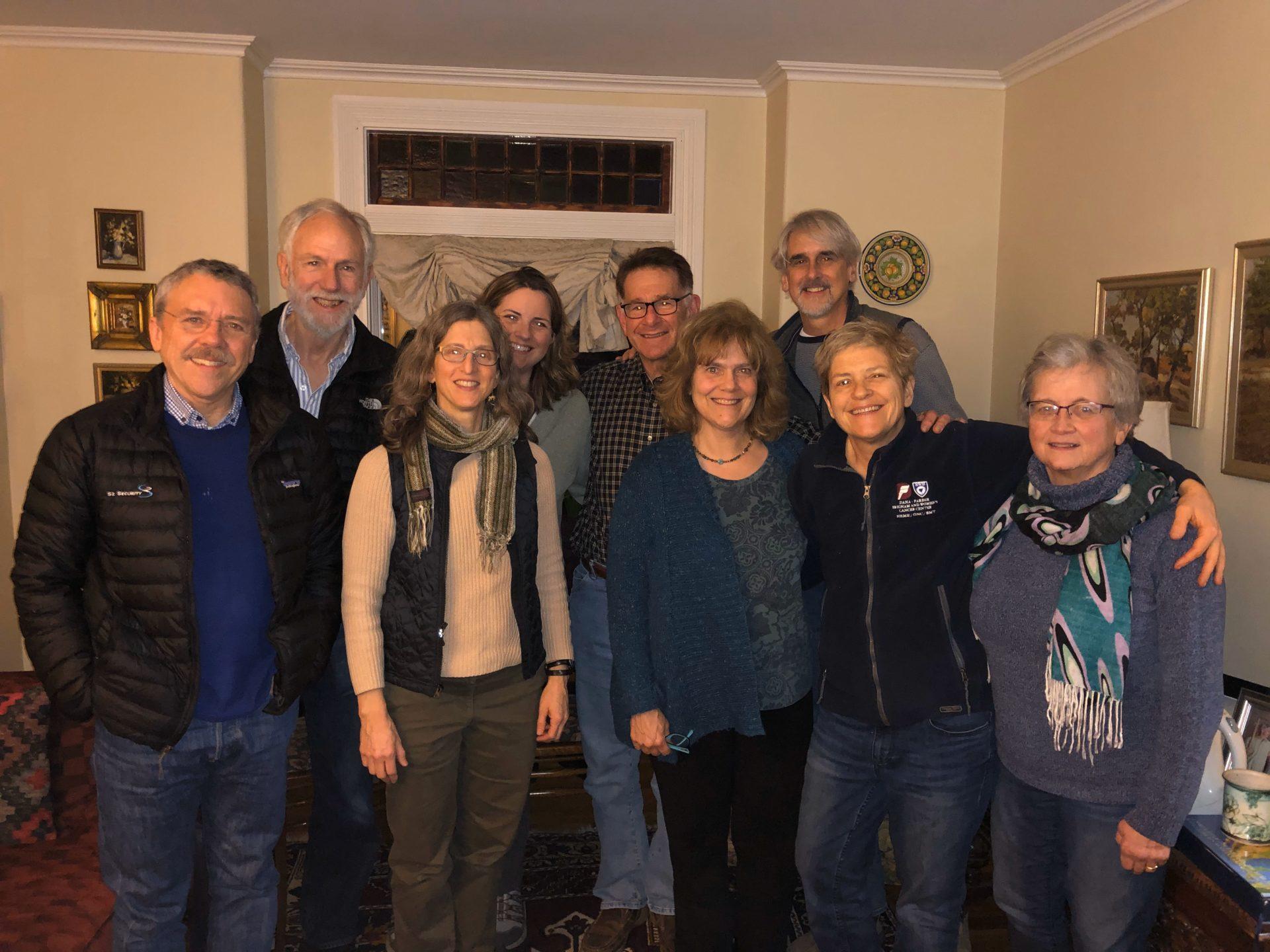 Photo of Lay Ministers: Jay Flynn, Jud Leonard, Ellen Metzger, Erin O'Donnell, Cris Goldsmith, Ann Woodbury, Gordon Moriarty, Margaret Costello, Cindy Orrell